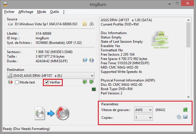 img537949 - Comment graver un fichier ISO ?