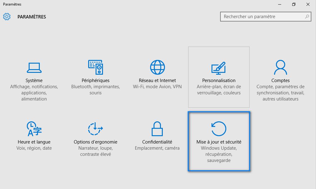 mode sans échec windows 10 1