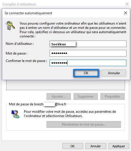 account user password
