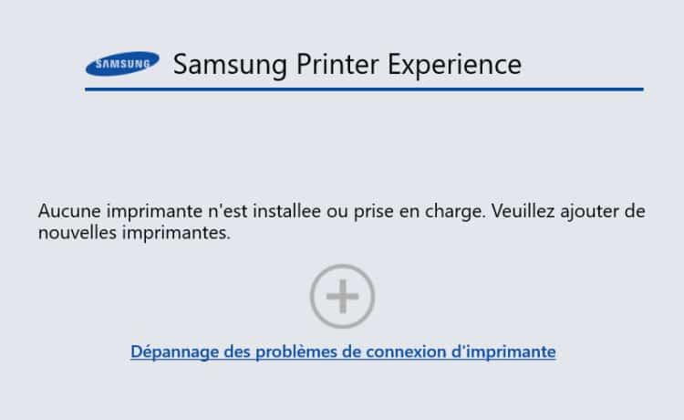 accueil samsung printer experience