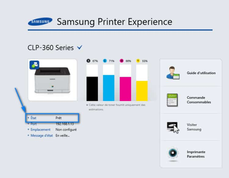 nouvelle imprimante installée sur Windows 10