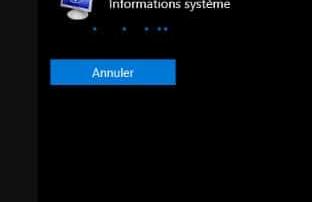 ouverture informations systeme avec cortana