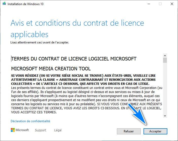 contrat de licence media création tool
