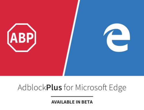 Télécharger & Installer Adblock Plus sur Microsoft Edge