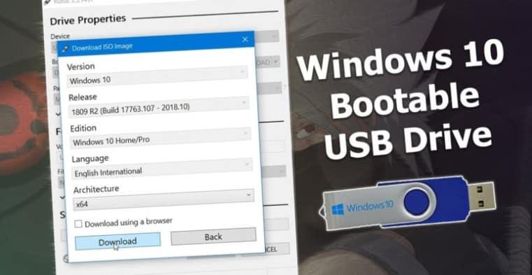 Rufus : Créer Clé USB d'installation Windows 10