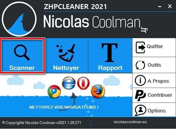 Analyser son PC avec ZHPCleaner