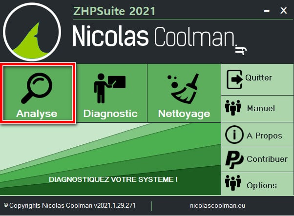 Effectuer une analyse avec ZHPSuite