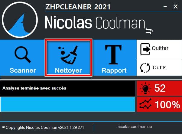 Nettoyer son PC avec ZHPCleaner