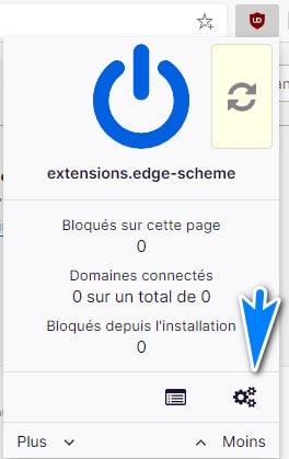 paramètrer ublock origin sur edge
