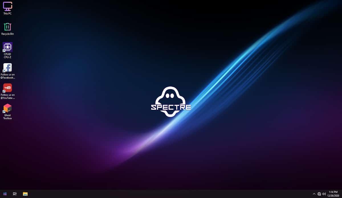 Télécharger l'iso de Windows Ghost Spectre