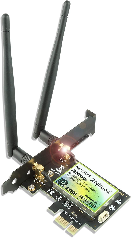Carte réseau pci-e wifi 6 pour ordinateur fixe