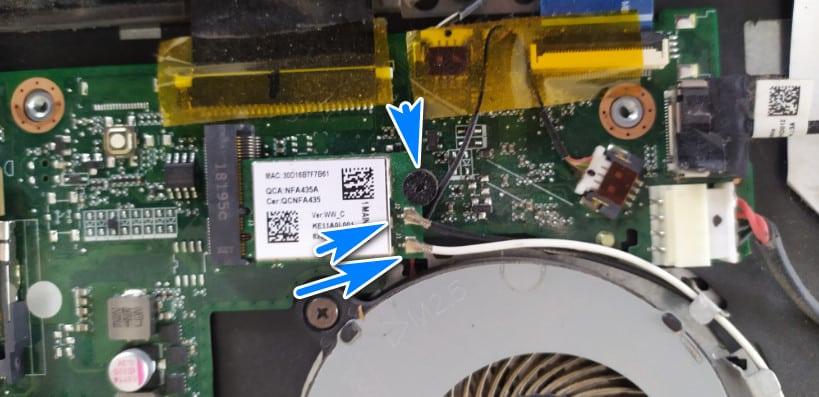 démonter une carte réseau sur PC Portable