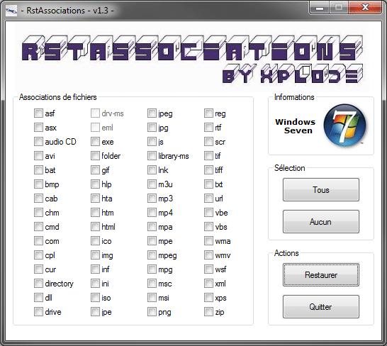 Télécharger rstassociations par Xplode