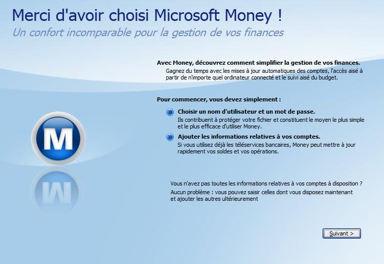 Configurer Microsoft Money sur Windows 10