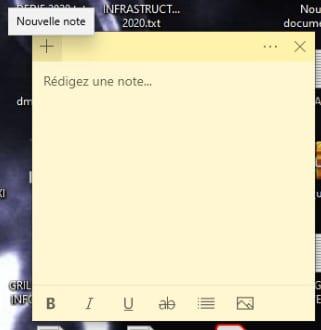 Créer un nouvelle note