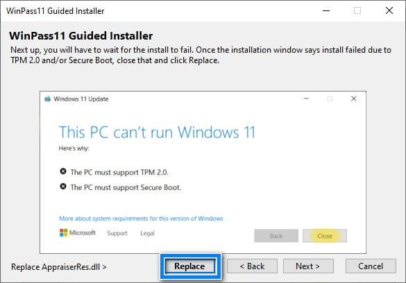 Fixer l'erreur Ce PC ne peut pas exécuter Windows 11