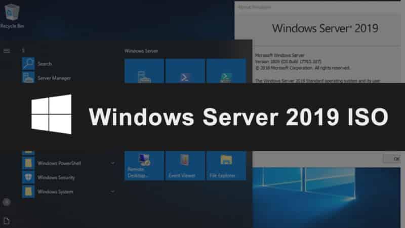 ISO Windows Server 2019