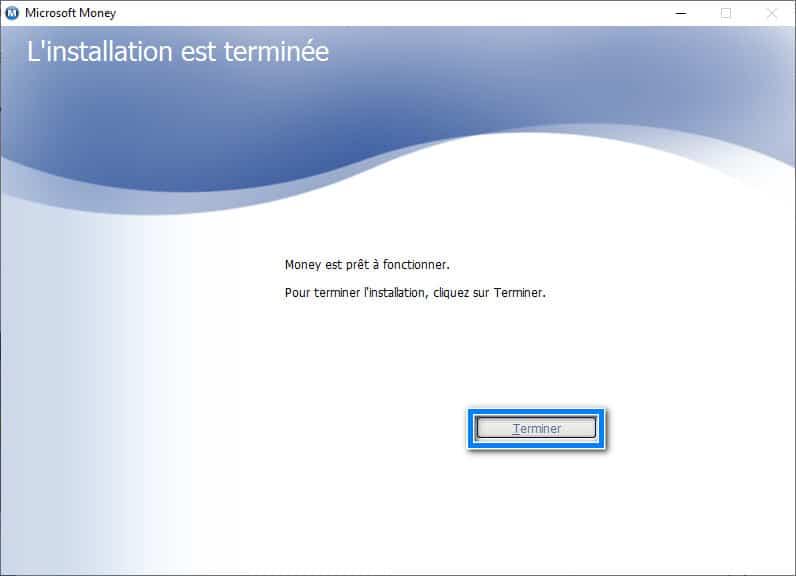 Installation Microsoft Money sur Windows 10