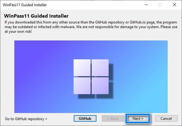 Installer WinPass11