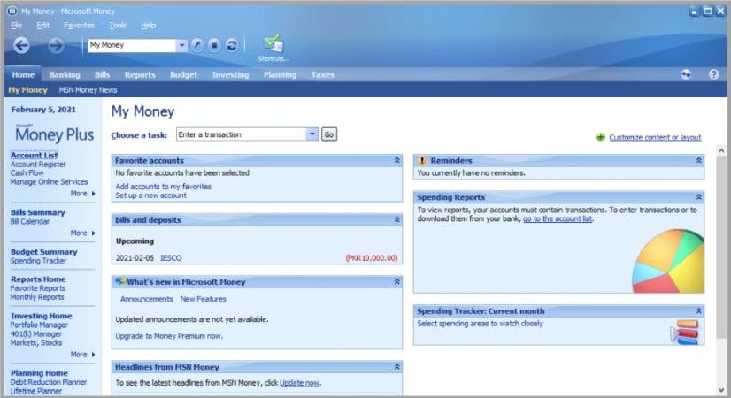 Microsoft Money gratuit en français