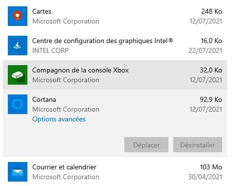 applications bloatware sur Windows 10