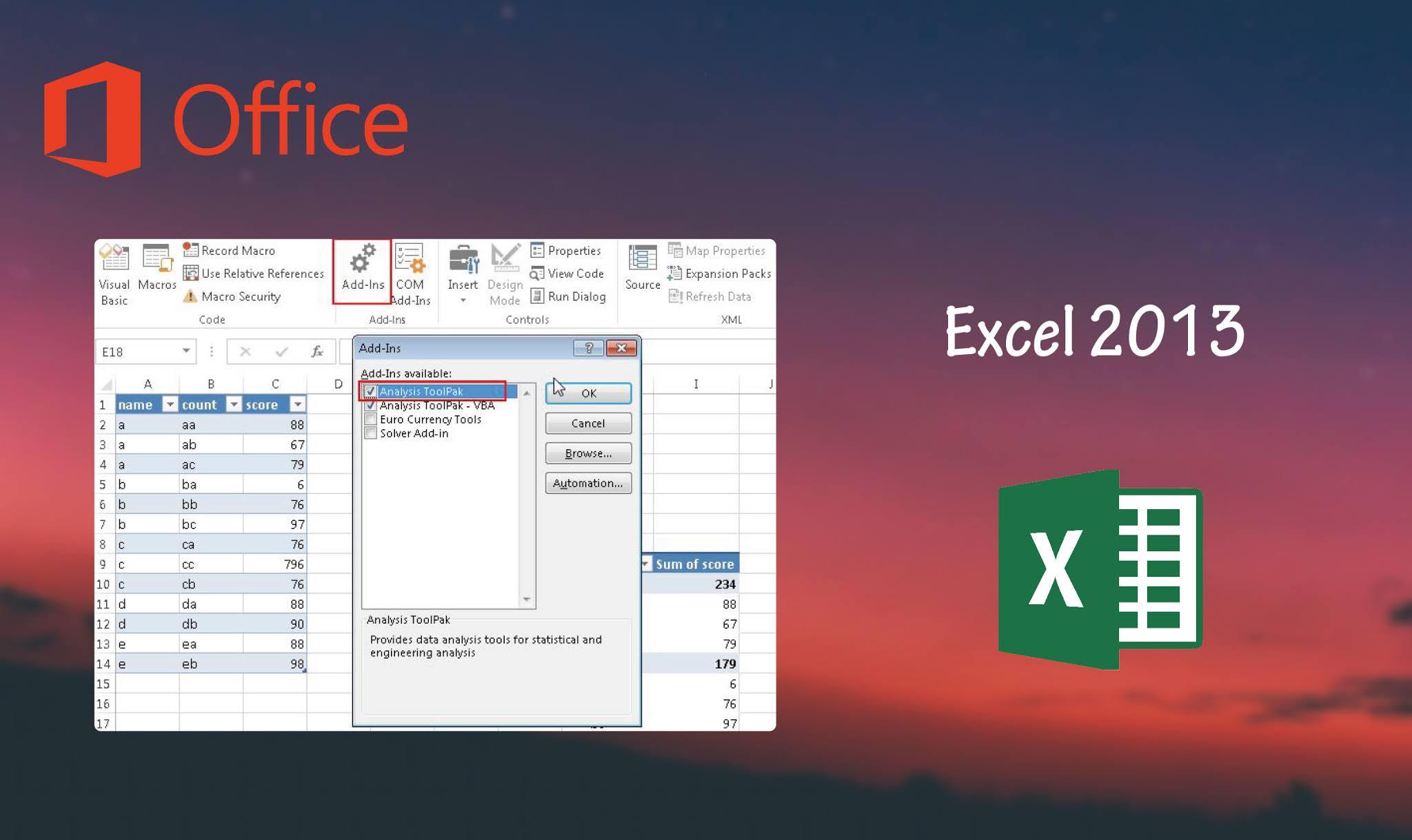 Télécharger Excel 2013 gratuitement